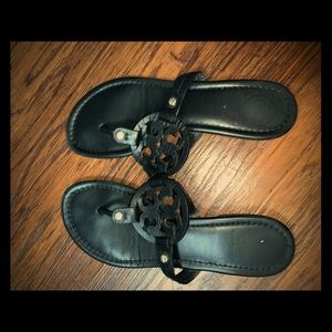 Black Tory Burch Miller Sandals 7